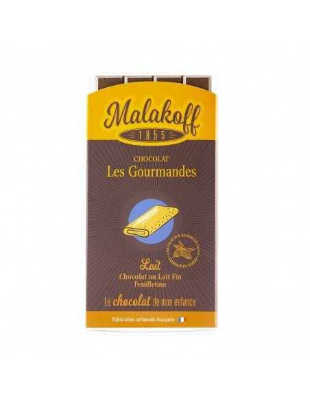Tablette Chocolat Lait Feuilletine 90g.