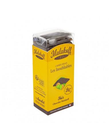 21 Carrés Délices Malakoff Choco Noir 105g.