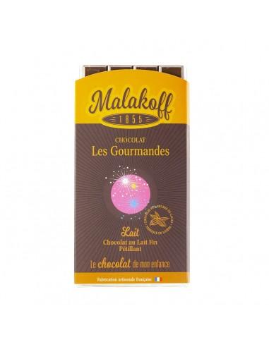 Tablette Chocolat Lait Pétillant 90g.