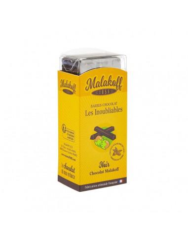6 Malakoff Chocolat Noir Brut 120g.