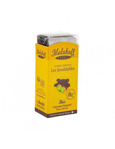 6 Malakoff Noir Sans Sucre Brut 120g.
