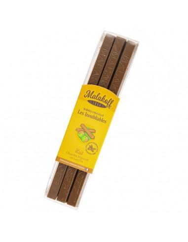 12 Malakoff 1855 Chocolat Lait Brut 240g.
