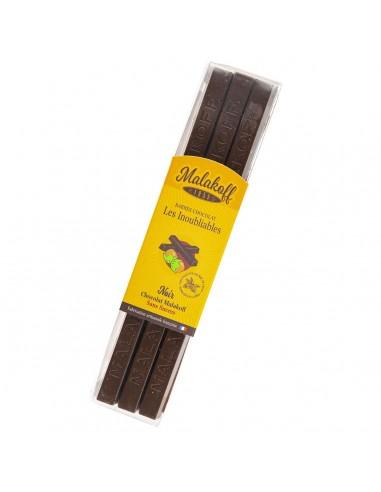 12 Malakoff Noir Sans Sucre Brut 240g.
