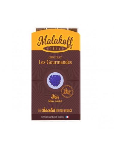 Tablette Chocolat Noir Sucre Mûres 90g.