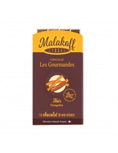 Tablette Chocolat Noir Orangettes 90g.