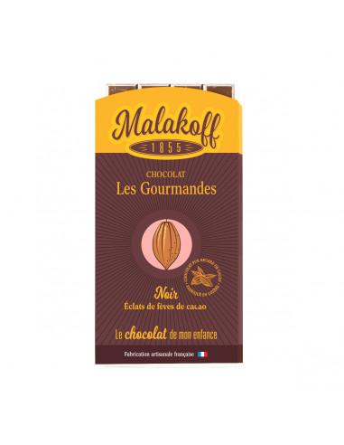 Tablette Chocolat Noir Fèves de Cacao 90g.